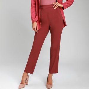 🆕Lulu's Kick It Burgundy Trouser Pants XS